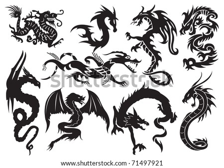 Dragon tattoo stock images royalty free images vectors dragons vector illustration ccuart Images