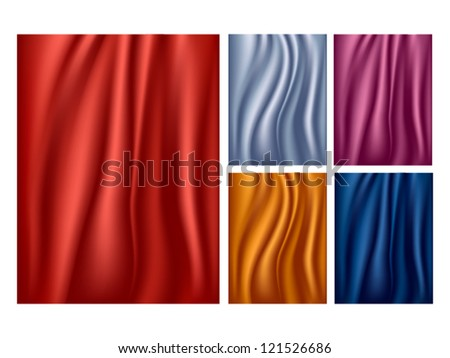 Drapes textures - stock vector