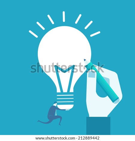 Draw idea  - stock vector