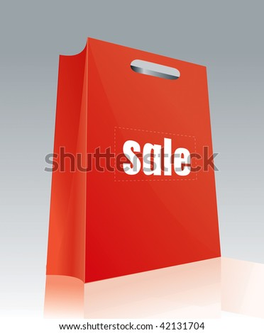 drawing a red shopping bag