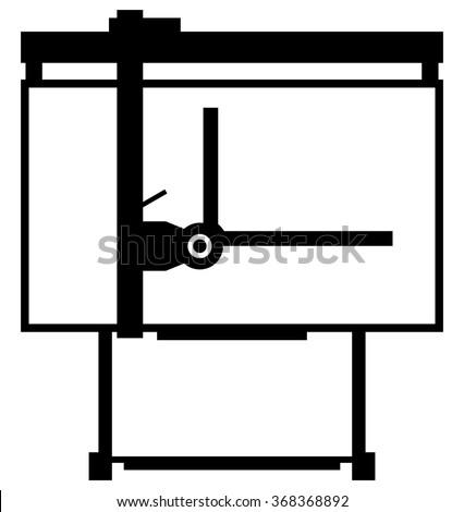 Drawing board - stock vector