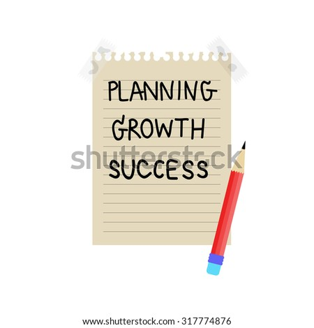 Drawing business plan concept, Vector - stock vector