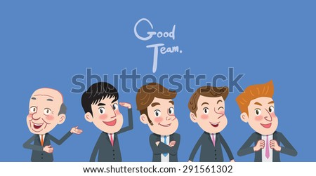 Drawing flat character design solving concept  - stock vector