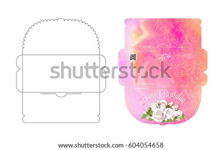 Drawing Greeting Envelopes Money Weddings Celebrations Stock Vector