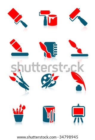 Drawing icons,  vector illustration, EPS file included - stock vector