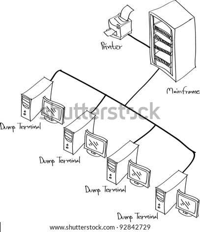 drawing Network - stock vector