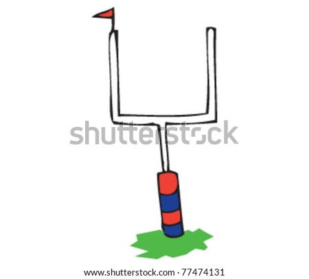 Drawing of a field goal - stock vector