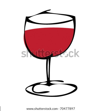 drawing of a glass of wine