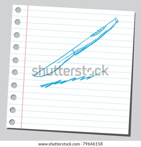Drawing of a scalpel - stock vector
