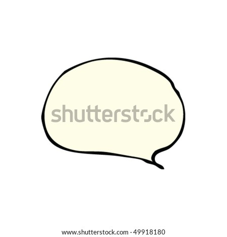 drawing of a speech bubble