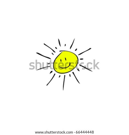 drawing of a sun