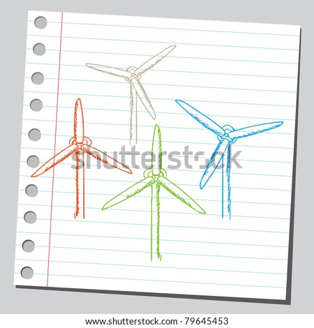 "Drawing of a ""wind turbines"""