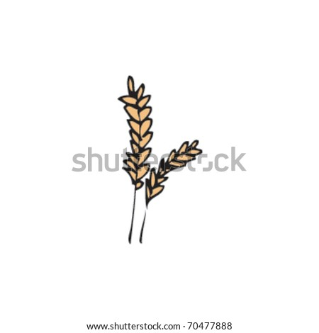 drawing of crops - stock vector