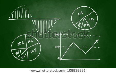 Drawing of graph on blackboard