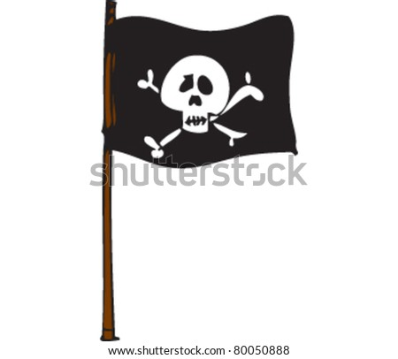 Drawing of pirate flag