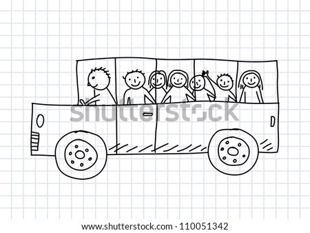 School Cartoon Drawing Drawing of School Bus on
