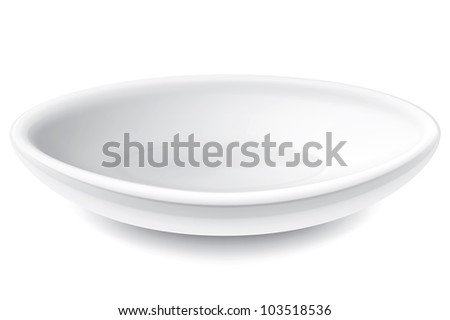 Drawing on the plate of a white background - stock vector