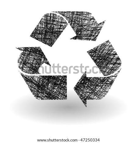 Drawing recycle symbol