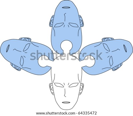 Drawing representing the transmission of knowledge - stock vector