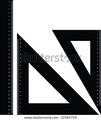 Drawing rulers vector - stock vector