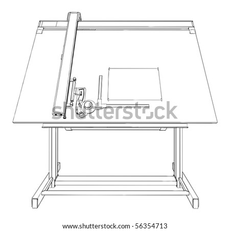 Drawing Table Vector 02 - stock vector