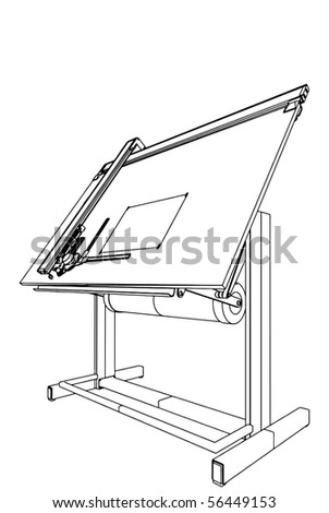 Drawing Table Vector 03 - stock vector
