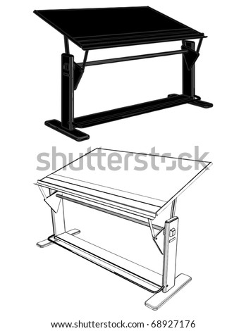 Drawing Table Vector 04 - stock vector