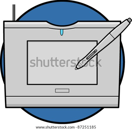 drawing tablet - stock vector