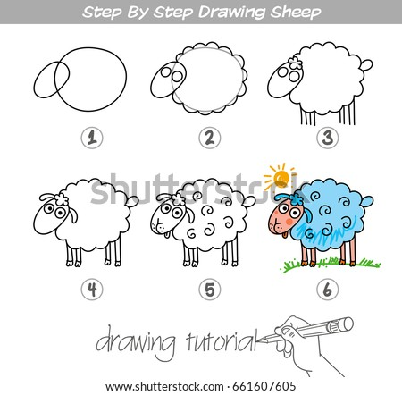 Drawing tutorial step by step drawing stock vector for Free online drawing lessons step by step