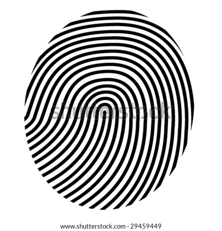drawing vector fingerprint - stock vector