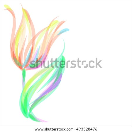 Drawing vector graphics with floral pattern for design. Floral flower natural design. Graphic, sketch drawing.