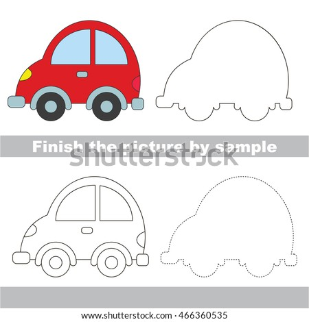 drawing worksheet children easy educational kid stock vector 466360535 shutterstock. Black Bedroom Furniture Sets. Home Design Ideas