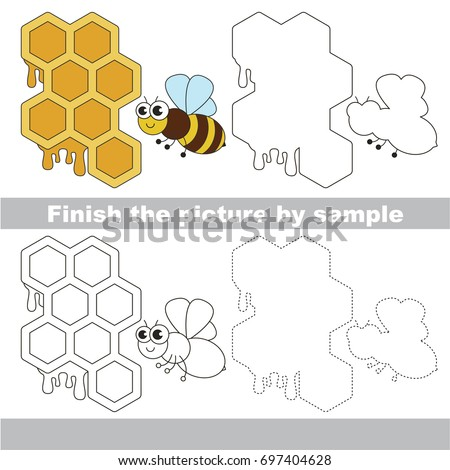 drawing worksheet preschool kids easy gaming stock vector 697404628 shutterstock. Black Bedroom Furniture Sets. Home Design Ideas
