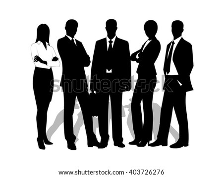 drawings businessmen on a white background