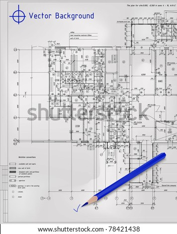 Drawings projects - stock vector