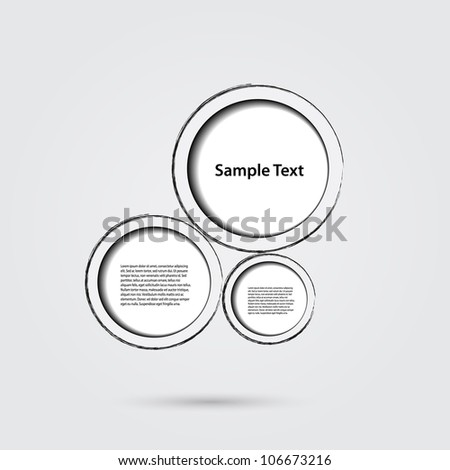Drawn Speech Bubbles - stock vector