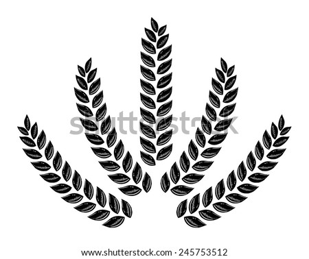 Drawn wheat, ears of corn, barley, oats, wheat, background beer, backgrounds for grain - stock vector