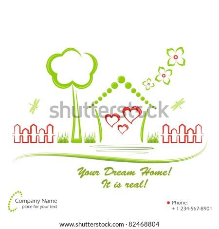 Dream home, vector illustration - stock vector