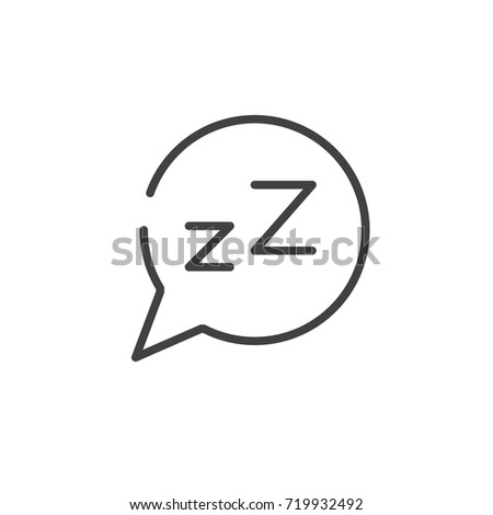 Dream speech bubble z letter line stock vector 719932492 shutterstock dream speech bubble with z letter line icon outline vector sign linear style pictogram spiritdancerdesigns Image collections