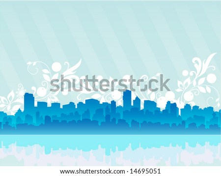 Dream urban city vector design illustration - stock vector