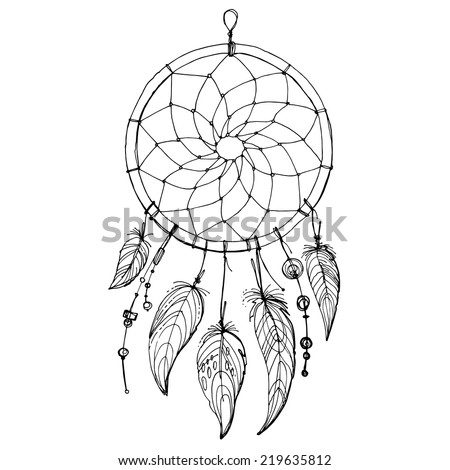 Dream catcher stock images royalty free images vectors for Dreamcatcher tattoo template
