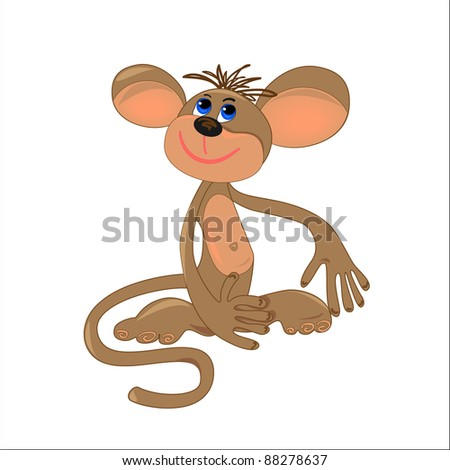 dreaming monkey. vector isolated character object
