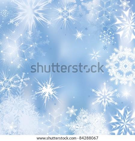 Dreamlike winter background. Vector illustration - stock vector