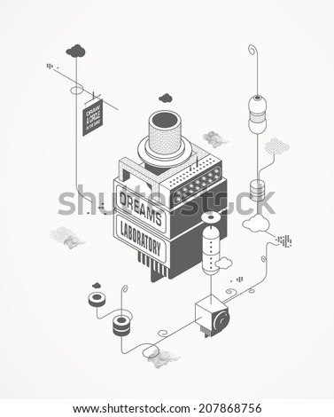 Dreams Laboratory - stock vector