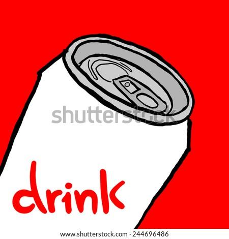 Drink can vector - stock vector