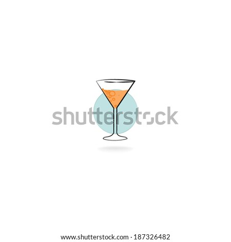 Drink glass vector - stock vector