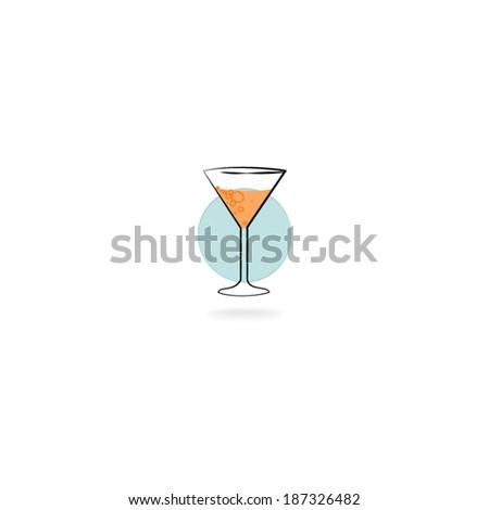 Drink glass vector - stock vector