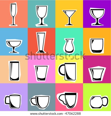 drink glasses - stock vector