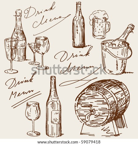 drink menu - stock vector