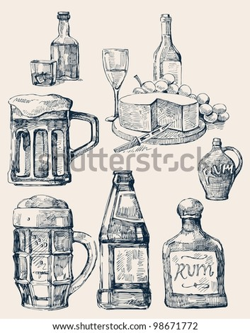 drink stack - stock vector